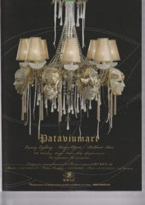 AD july 2010- Pataviumart press-release-publications-pataviumart-luxury-lighting-venice-mask-chandelier