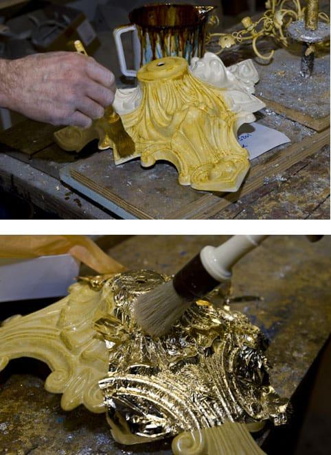 handmade-gold-foil-luxury-chandeliers-elegant-decorative-customized-high-end-lighting-brands